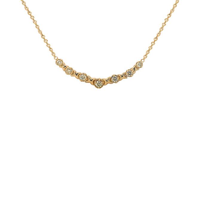 14K Yellow Gold XOXO Necklace