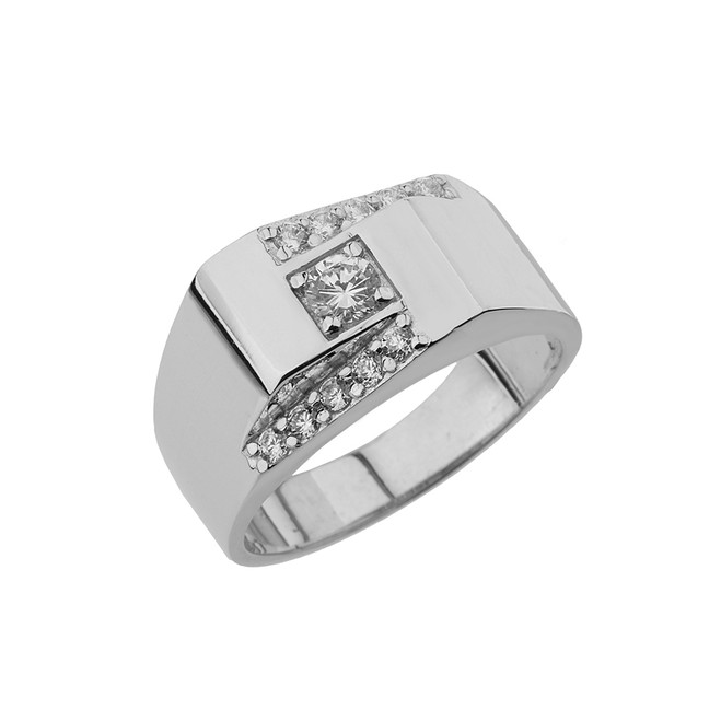 White Gold Mens Ring