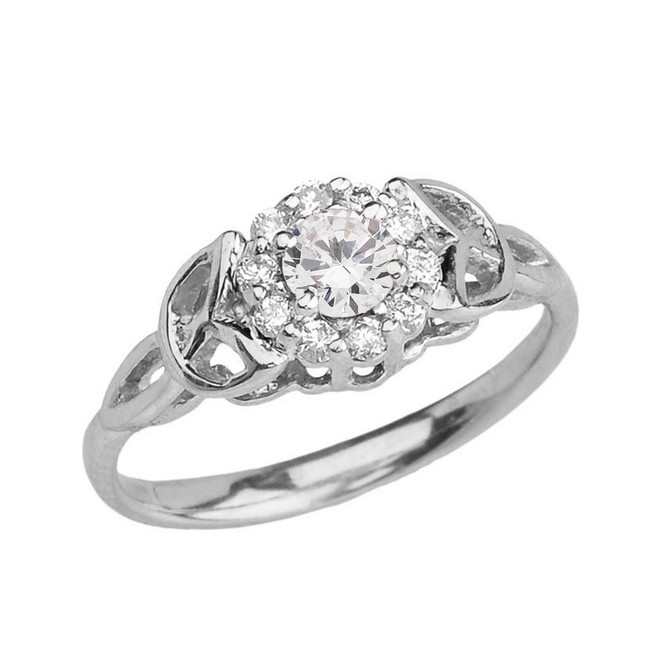 White  Gold  Diamond Engagement/Promise Ring