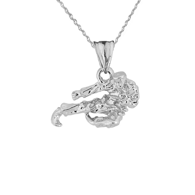 Sterling Silver Gold Martial Arts Karate Pendant Necklace