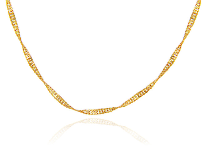 Gold Chains: Singapore Gold Chain 0.3mm