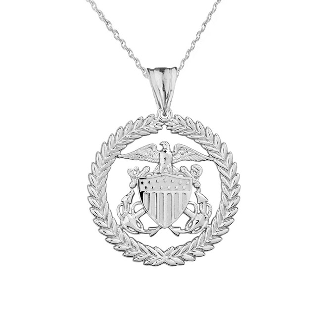 U.S Coast Guard Pendant Necklace in Sterling Silver