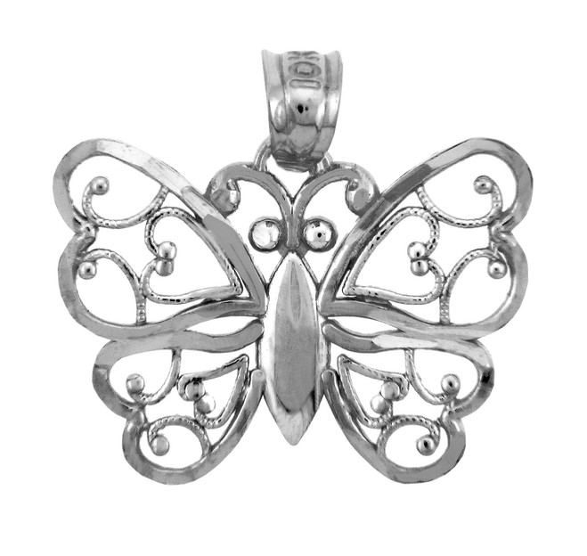 Silver Aponi Butterfly Charm Pendant