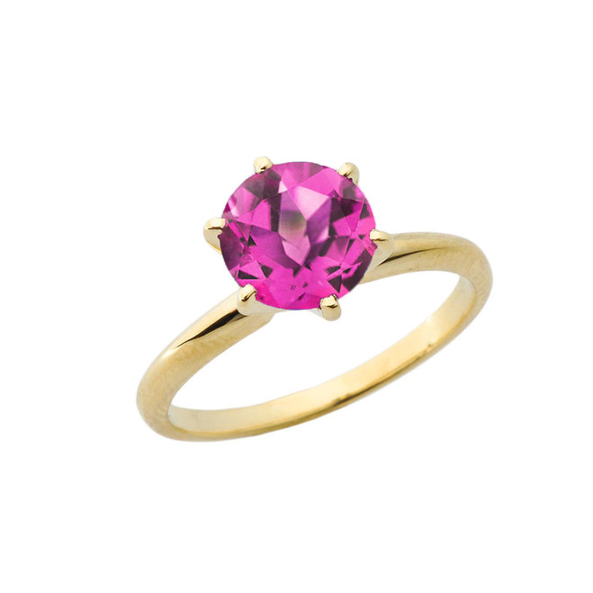 Yellow Gold 3.0 ct June Alexandrite (LC) Solitaire Engagement Ring