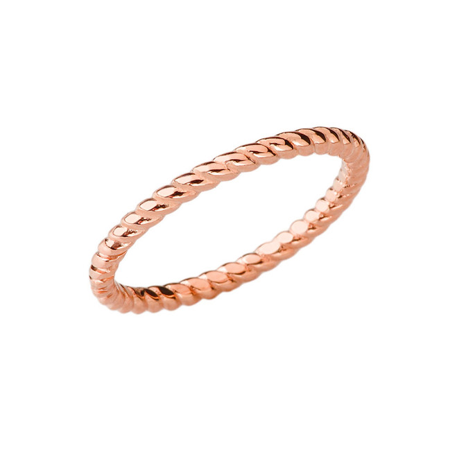 Chic Rope Ring in Rose Gold