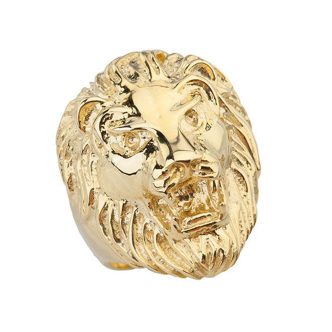 Roaring Lion Ring in Yellow Gold