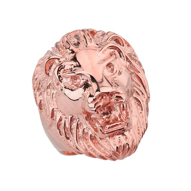 Roaring Lion Ring in Rose Gold