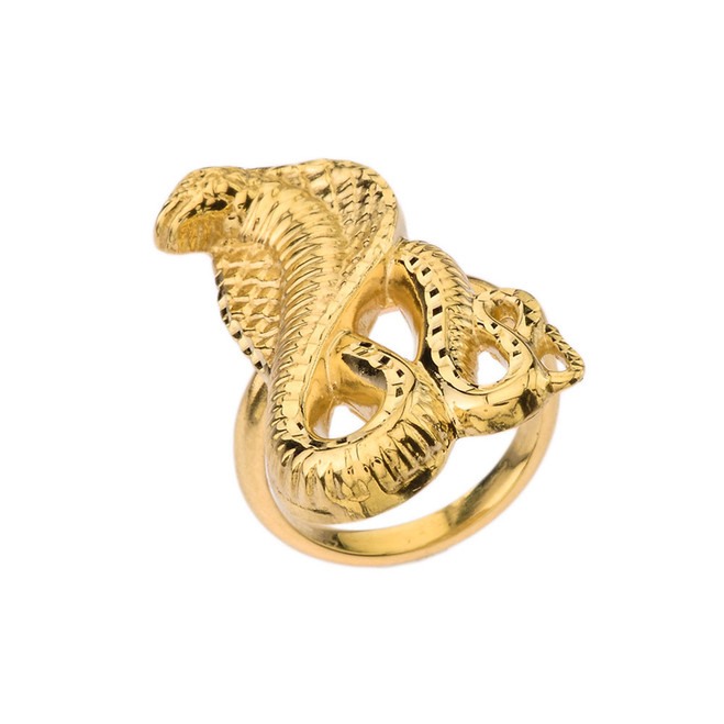 Snake Statement Ring in Yellow Gold