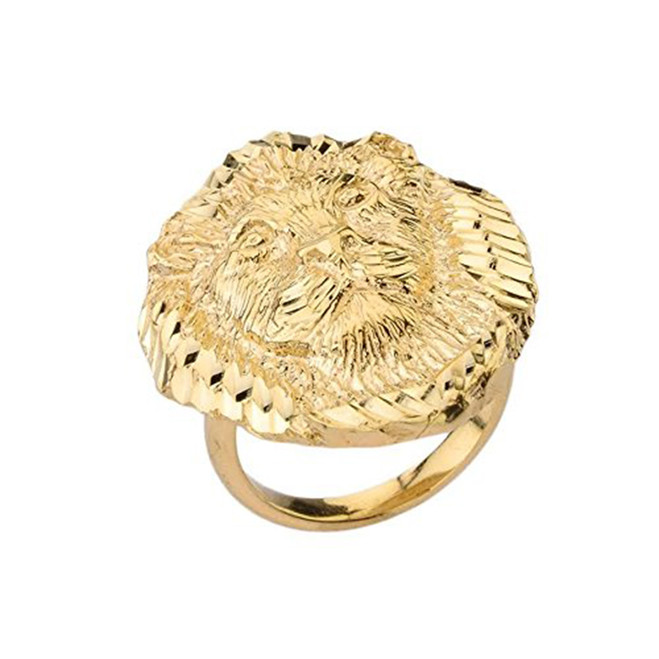 Lion Statement Ring in Yellow Gold