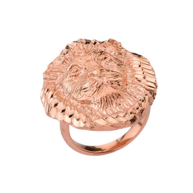 Lion Statement Ring in Rose Gold