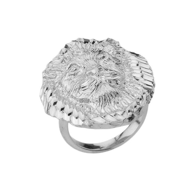 Lion Statement Ring in Sterling Silver