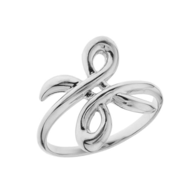 Zibu Friendship Symbol Ring in White Gold