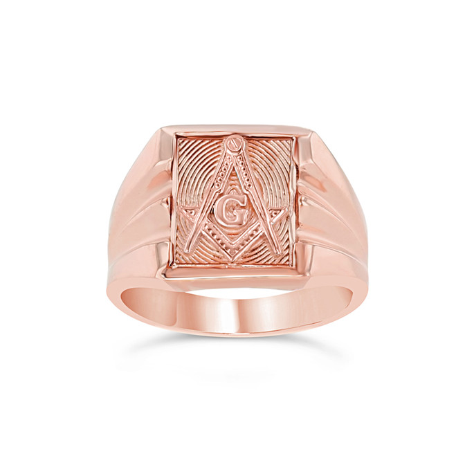 Rose Gold Masonic Ring