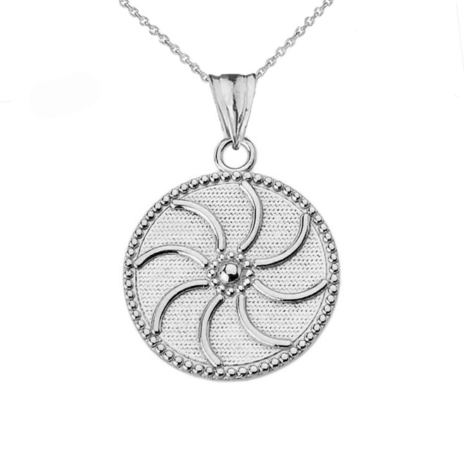"Armenian Eternity (0.94"") Pendant Necklace in Sterling Silver"