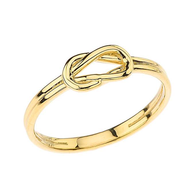 Hercules Love Knot Ring in Yellow Gold