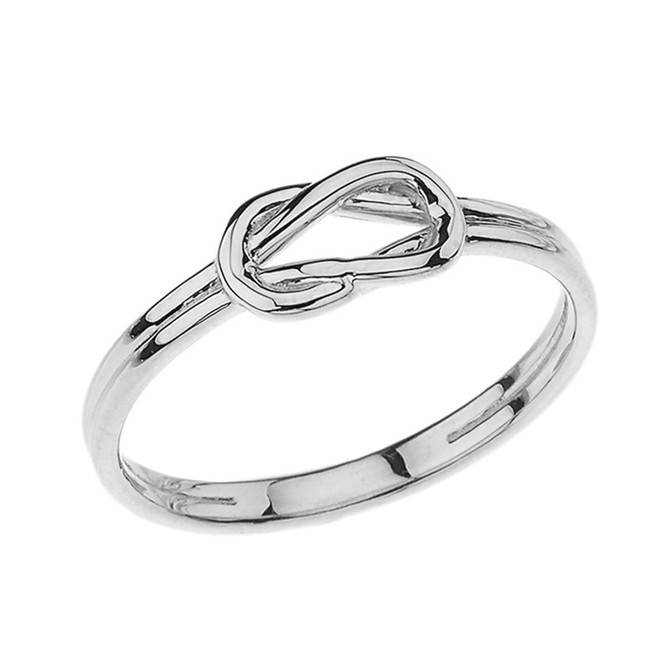 Hercules Love Knot Ring in White Gold