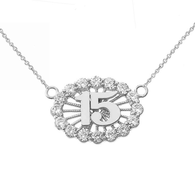 15 Quinceañera Necklace in Sterling Silver