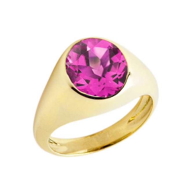 June Birthstone Gentleman's Pinky Ring