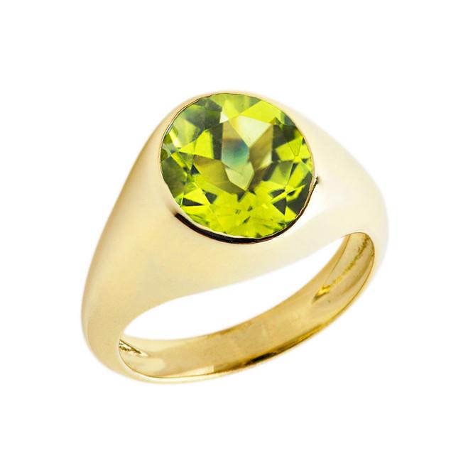 August Birthstone Gentleman's Pinky Ring