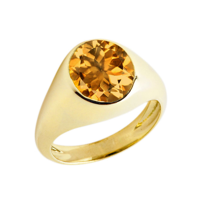 November Birthstone Gentleman's Pinky Ring