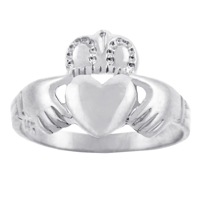 Solid Silver Traditional Claddagh Ring.