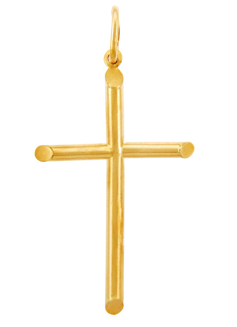 Gold Crosses - Two Inch Gold Cross Pendant