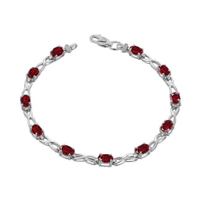 Amethyst Infinity Bracelet in Sterling Silver