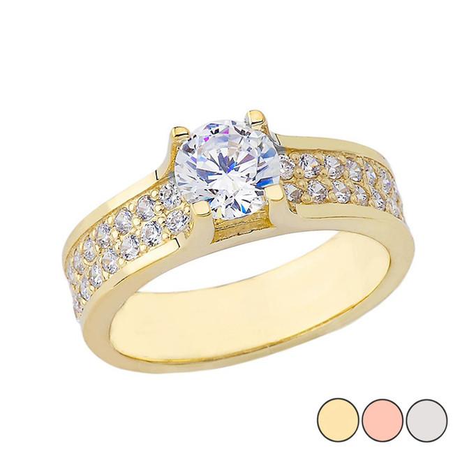 Bold-Chic Engagement Ring in Yellow Gold