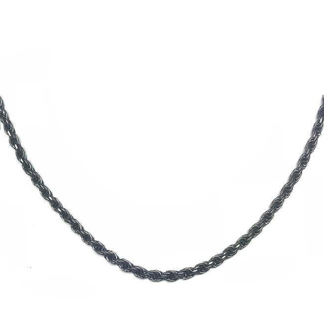 Antique Vintage Oxidized  3mm Rope Chain