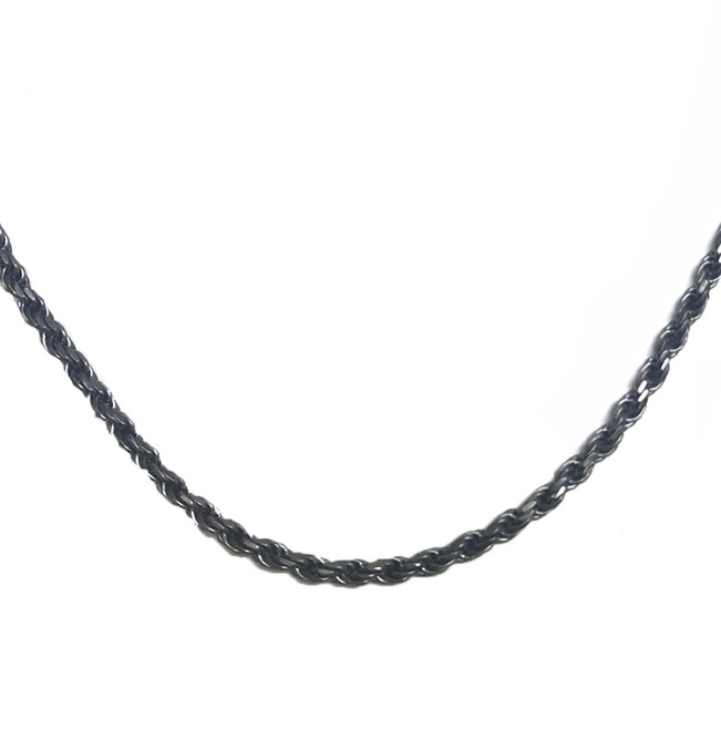 Antique Vintage Oxidized  3.5 mm Rope Chain