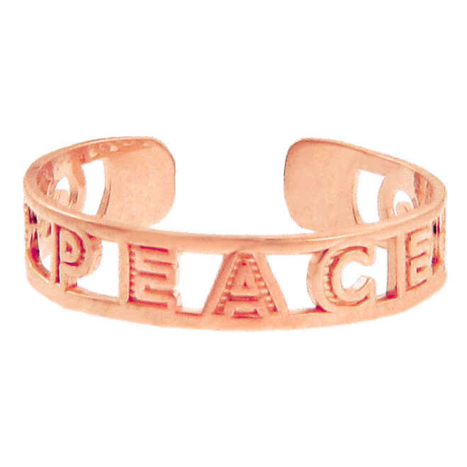 Rose Gold PEACE Toe Ring