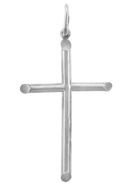 White Gold Crosses - Gold Cross Pendant, Medium Size