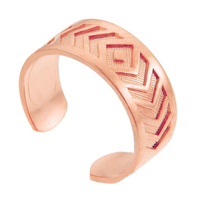 Rose Gold Chevron Toe Ring