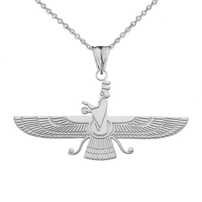 Faravahar Pendant Necklace in Sterling Silver