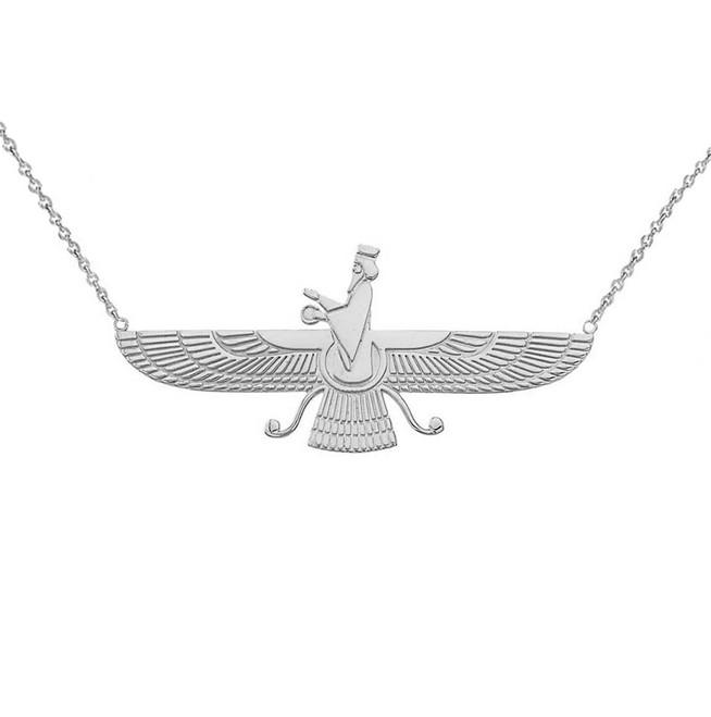 Dainty Faravahar Necklace in Sterling Silver