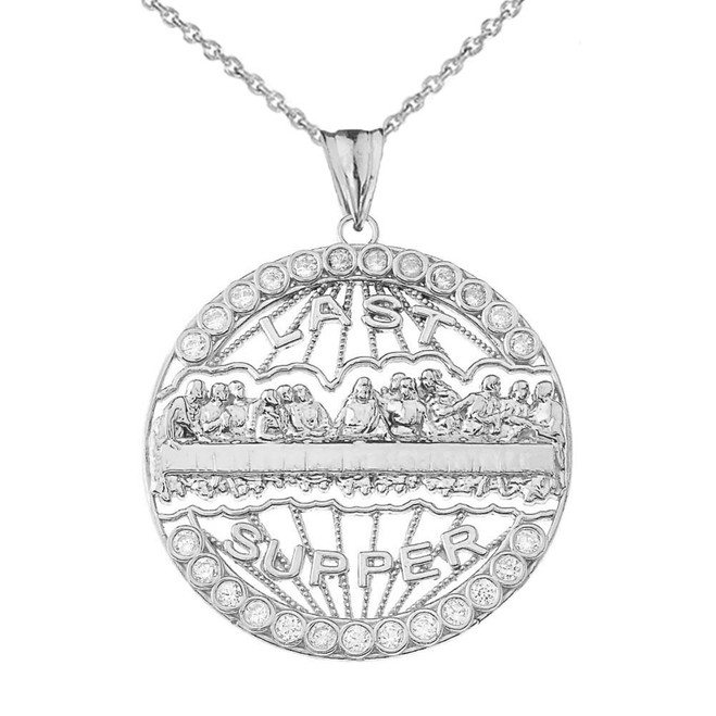 The Last Supper Medallion in White Gold
