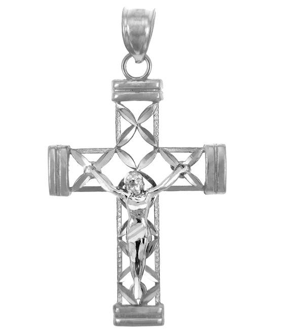 White Gold Cross Pendant- The Believe Crucifix