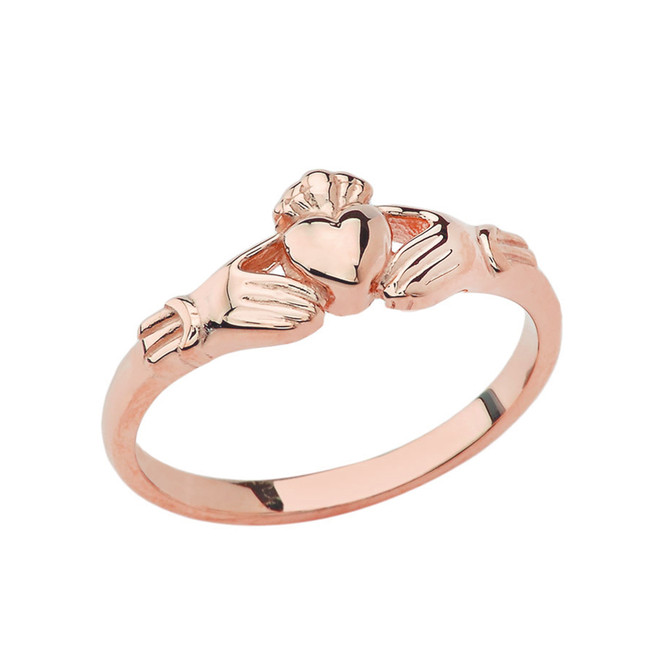 Traditional Claddagh Ring in Rose Gold
