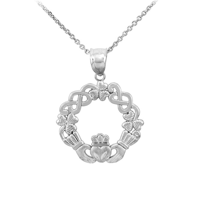 Sterling Silver Claddagh Pendant Necklace