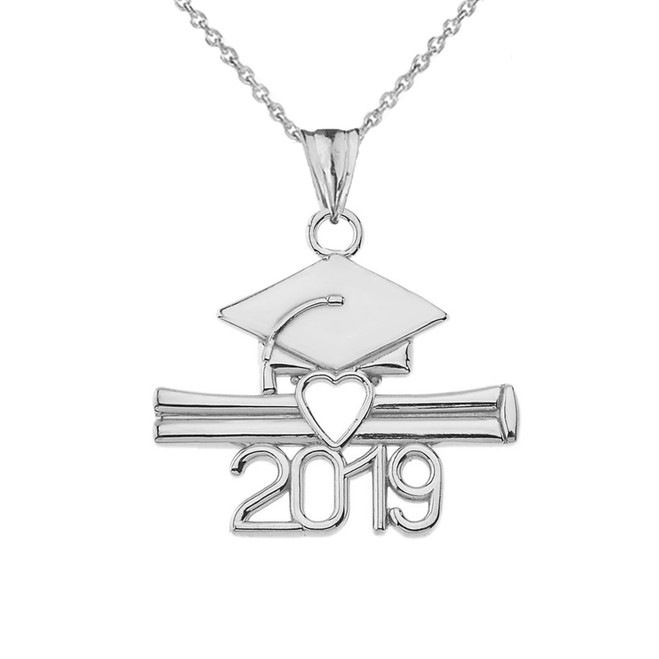 Class of 2019 Graduation Pendant Necklace in Sterling Silver