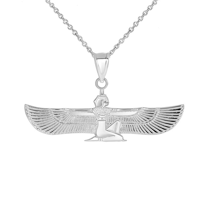 Egyptian Goddess Pendant Necklace in Sterling Silver