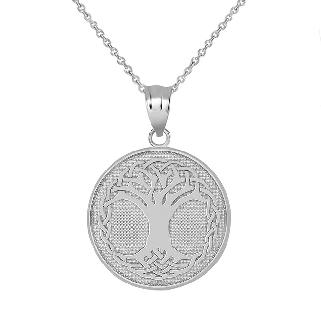 Tree of Life Pendant Necklace in Sterling Silver
