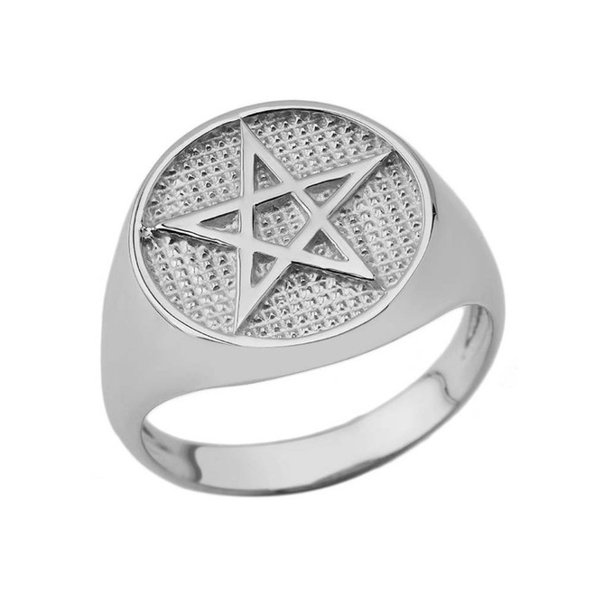 Pentagram Ring in Sterling Silver