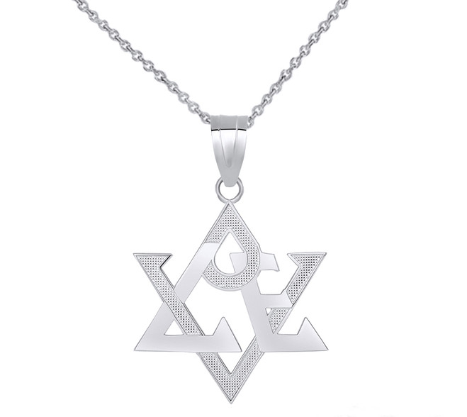 Love Star of David Pendant Necklace in Sterling Silver