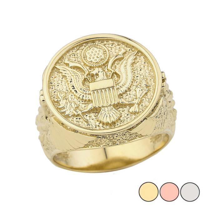 US Army Ring in Gold (Yellow/Rose/White)