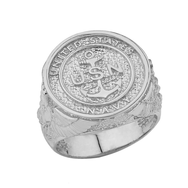 US Navy Ring in Sterling Silver