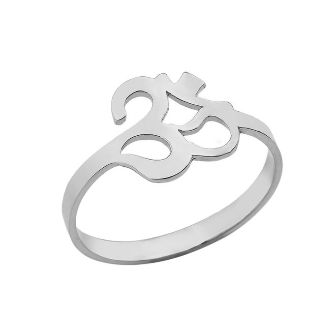 Ohm/Om Ring In Sterling Silver
