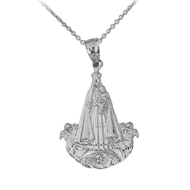 Virgen del Cobre (Large) Pendant Necklace in Sterling Silver