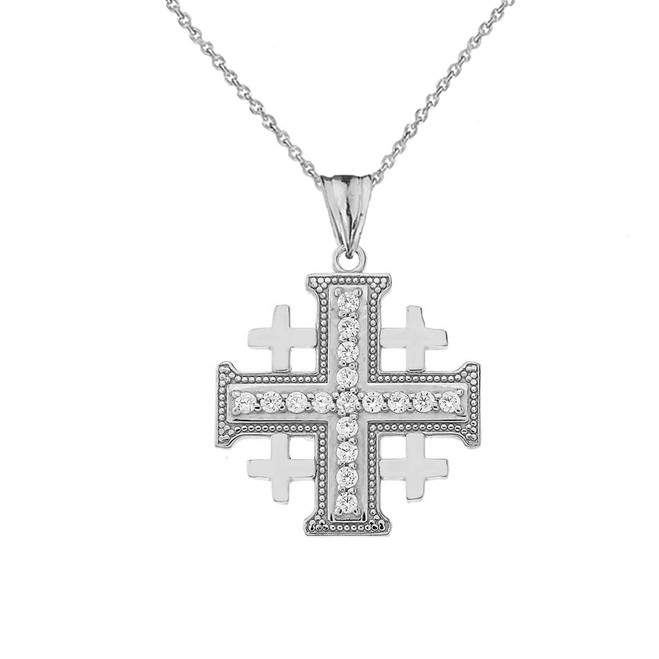Crusaders Cross Pendant Necklace in Sterling Silver