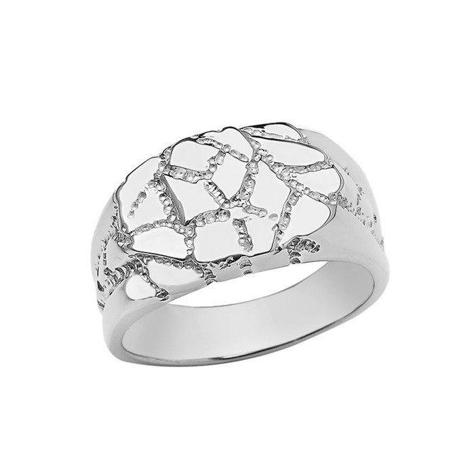 Designer Nugget Ring in Sterling Silver